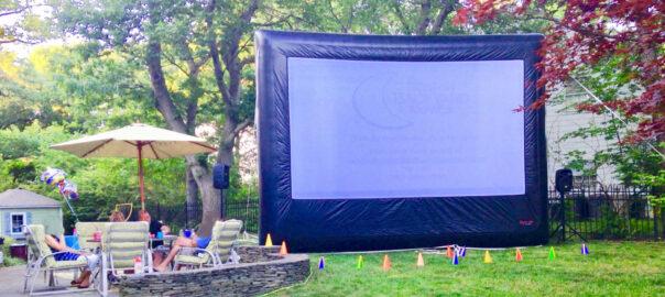 Boston Backyard Movies Inflatable Screen
