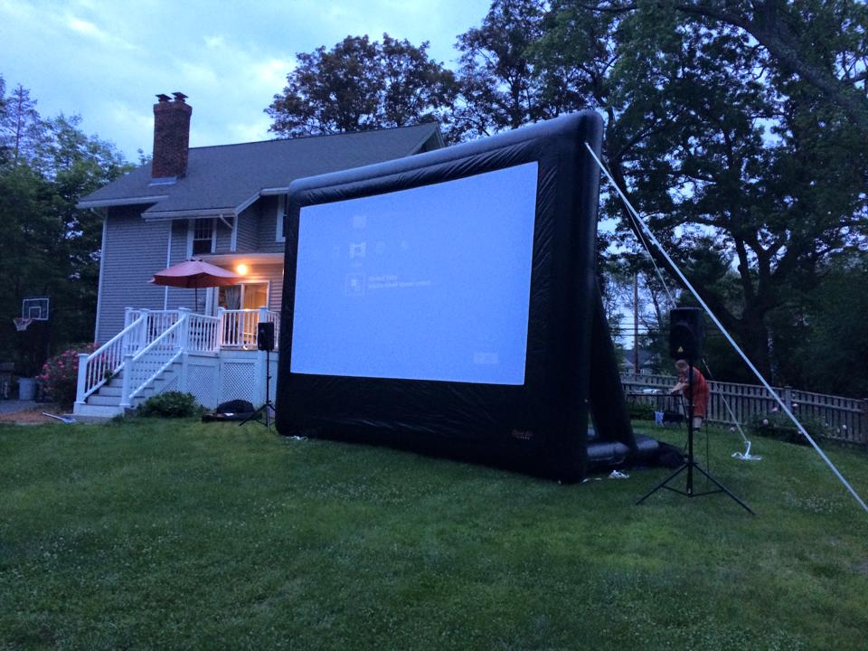 inflatable movie screen, About, Press Play Outdoors Blog